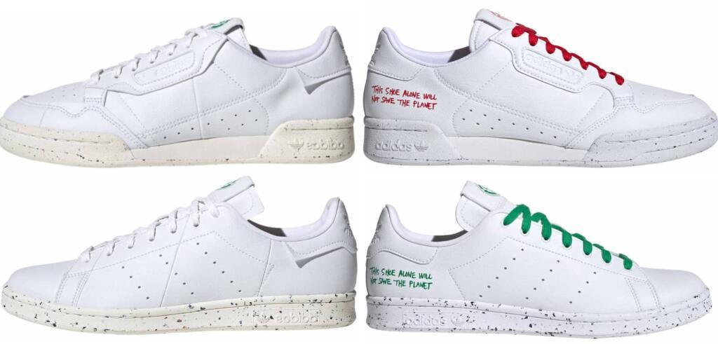 Adidas Clean Classics, z.B. Stan Smith vegan, Continental 80 vegan [20% auf Adidas]