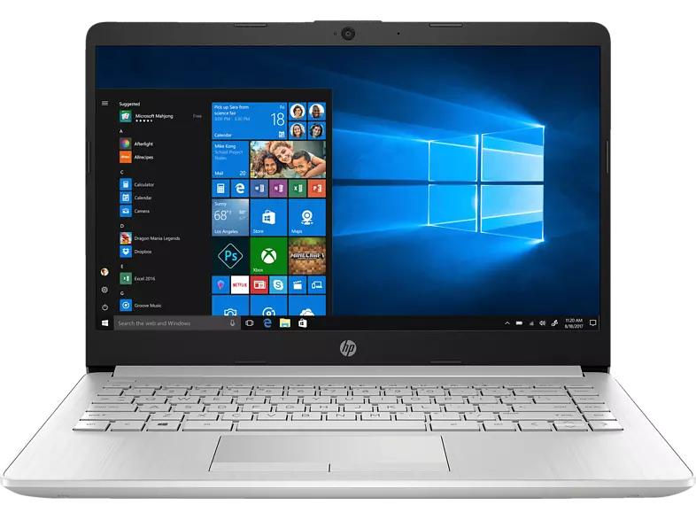 HP 14-dk0357ng, Notebook 14 Zoll Display IPS, Ryzen™ 5 AMD Ryzen 3500U Prozessor, 8 GB RAM, 128 GB SSD, 1 TB HDD, AMD Radeon Vega 8, Silber