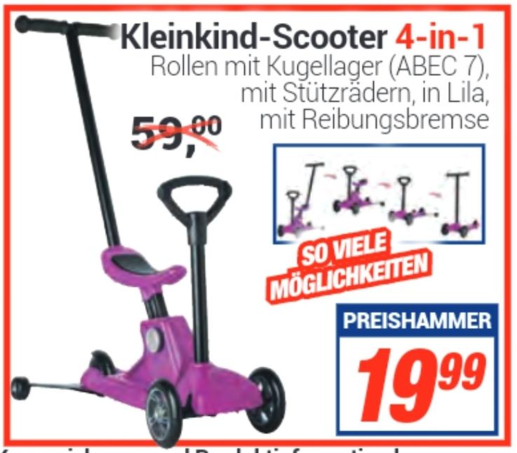 [ Centershop ] Kleinkind Scooter 4in1 in der Farbe Lila