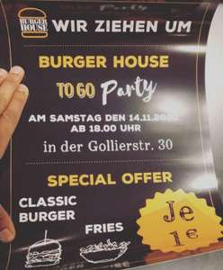 Lokal - [ München ] Classic Burger für 1€ heute ab 18 Uhr im Burger House