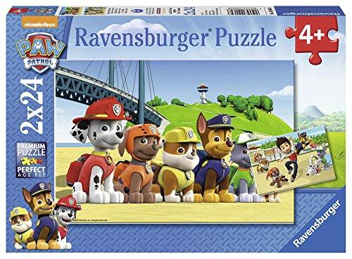 (Prime) 2x Ravensburger Kinderpuzzle, je 2x 24 Teile - Paw Patrol