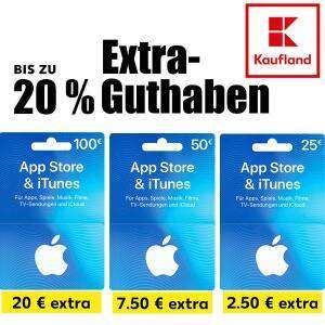 Bis zu 20% extra Guthaben auf Apple App Store & iTunes Geschenkkarten [Kaufland]