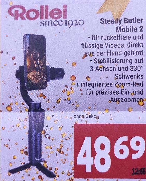 [Marktkauf Minden-Hannover] Rollei Steady Butler Mobile 2 Gimbal mit 10% Rabatt Aufkleber für 43,82€