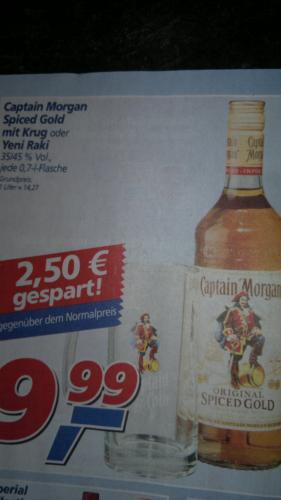 [Wieder da!] Captain Morgan Spiced Gold + kostenloser Krug für 9,99€ @ ,-real [bundesweit]