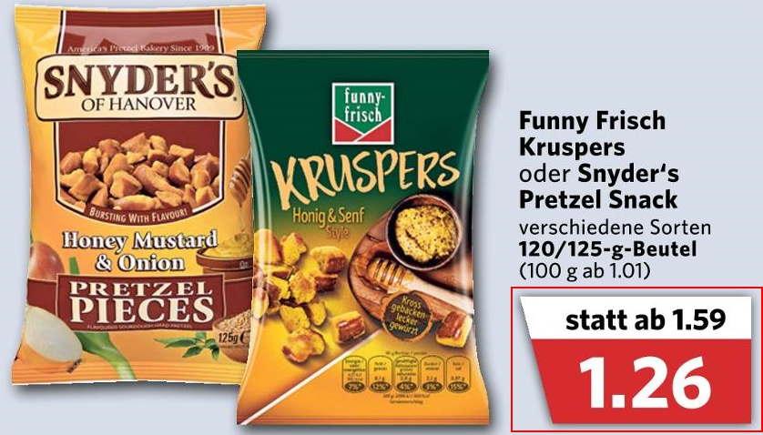 [Combi Markt]--[Regional] Snyder's Pretzel Snack für 1,26€