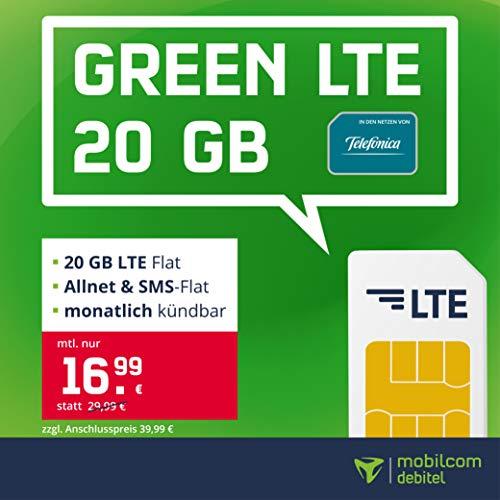 o2 Green LTE 20GB Monatlich kündbar