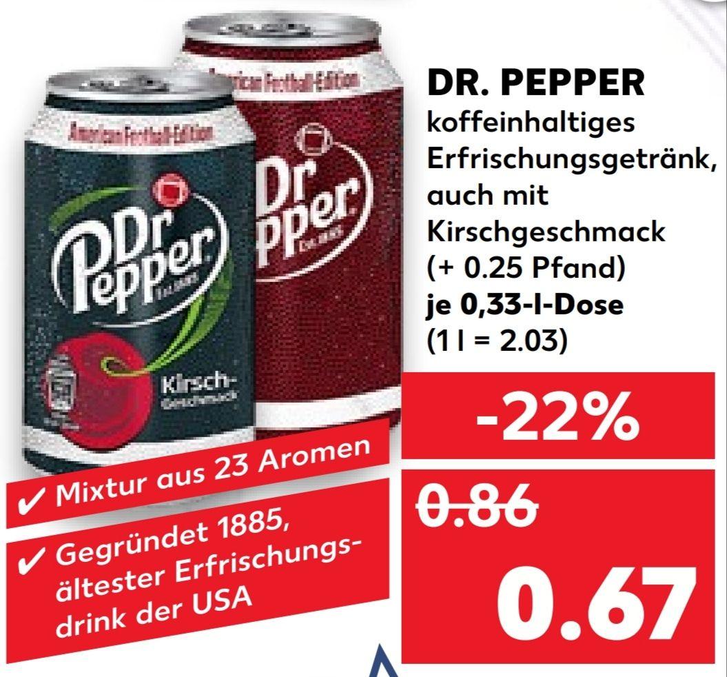 [Kaufland Do-Mi] Dr. Pepper in der Dose für 0,67€ (+ 0,25€ Pfand)