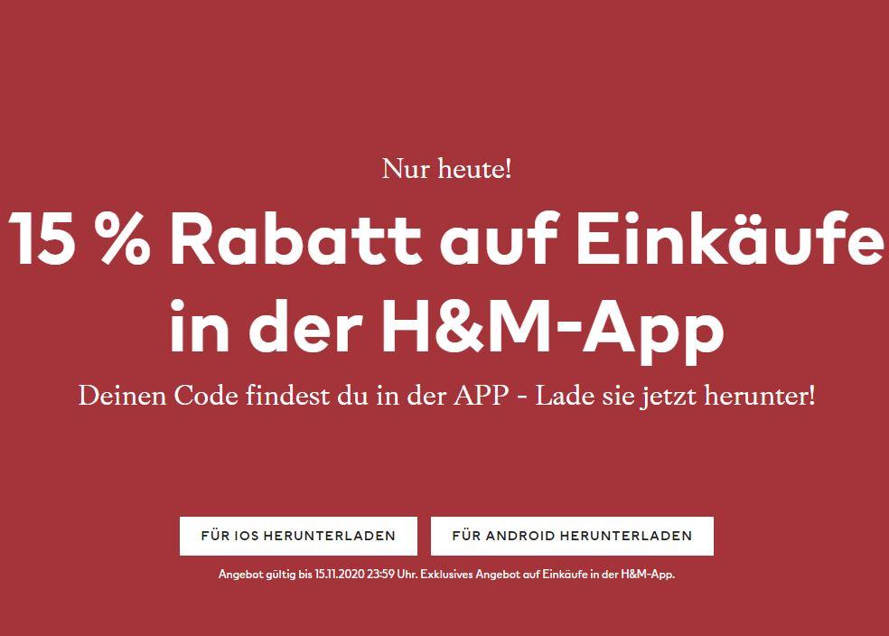 [H&M] 15% Rabatt auf Vollpreisartikel - nur heute!