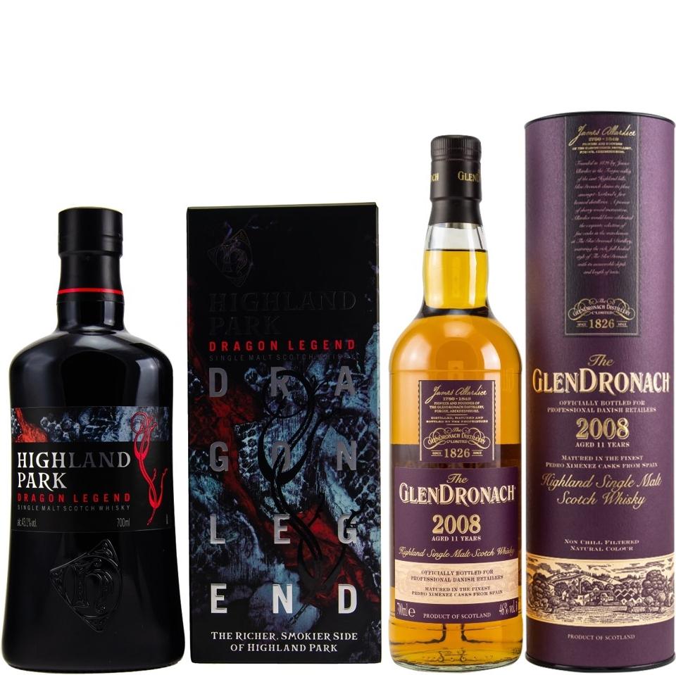 Whisky-Übersicht #57: z.B. Highland Park Dragon Legend Single Malt für 33,90€, Glendronach 2008/2019 PX Sherry Cask für 63,45€ inkl. Versand