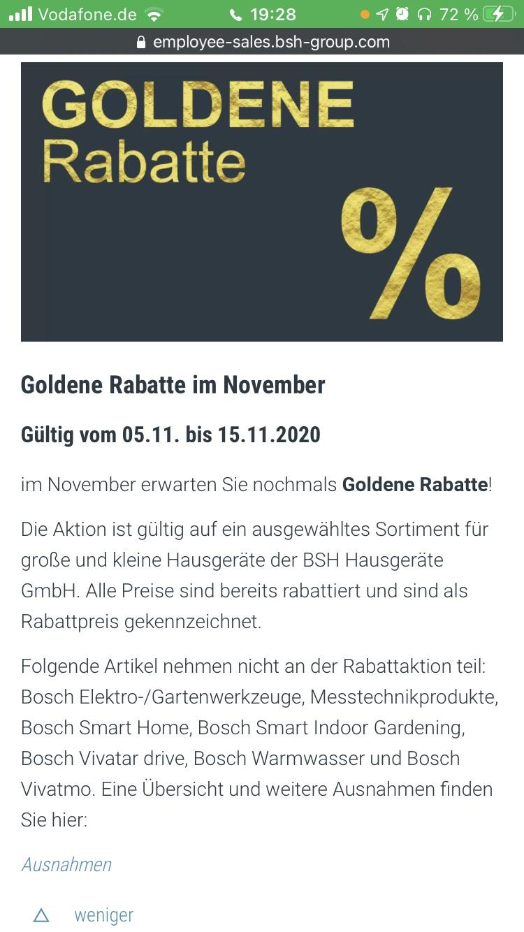 Bosch/Siemens: Bis zu 50% im Für Uns Shop auf ausgewählte Artikel