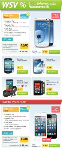 Sparhandy mit ADAC Rabatt. Galaxy S3 ab 89€ mit nutzbarem Vertrag