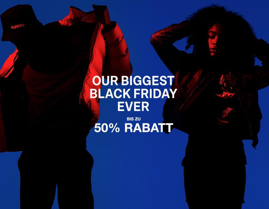 [ALL STYLE DROPS] Superdry Black Friday (bis zu -50%), z.B. Superdry Skate Lux Beanie Navy