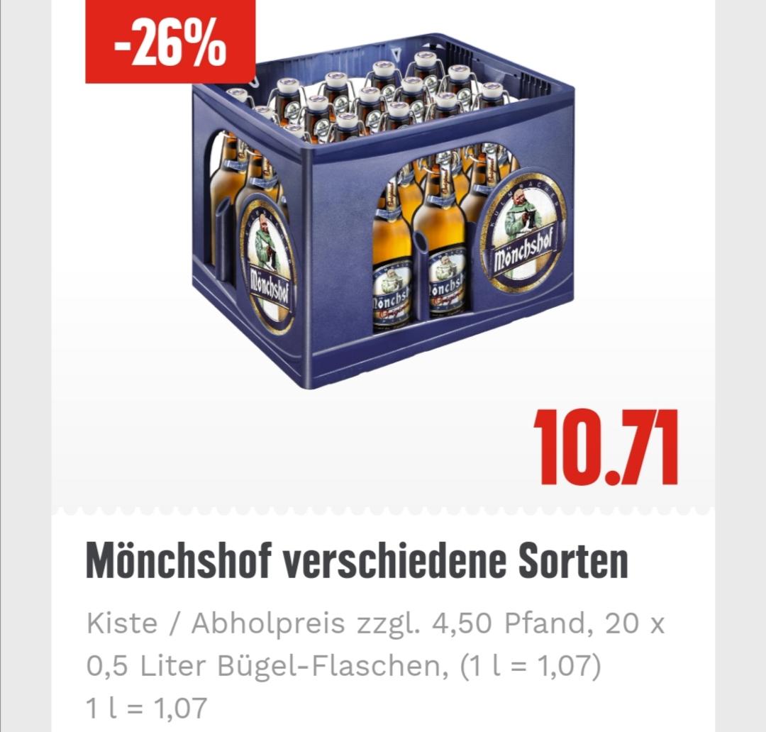 [EDEKA HH, SH und MV] Mönchshof Bier | 1,07€/L