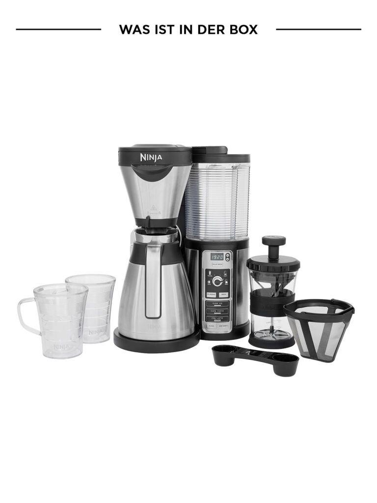 Ninja Coffee Bar Kaffeemaschine Set Thermoskanne oder Glas inkl 2 Thermobecher