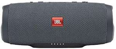 JBL Charge Essential Bluetooth-Lautsprecher in Grau – Wasserfeste, portable Boombox mit integrierter Powerbank