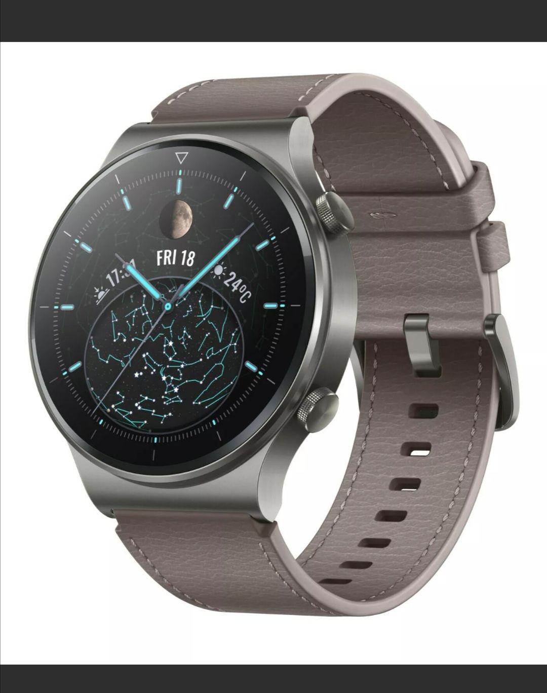 HUAWEI WATCH GT 2 Pro Sport Smartwatch, Kunststoff, 140-210 mm, Grau mit Code zum Bestpreis