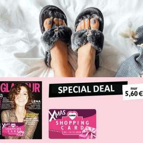 2 Ausgaben Glamour + Gratis 1 Paar flip*flops Faux Fur + XMAS ShoppingCard