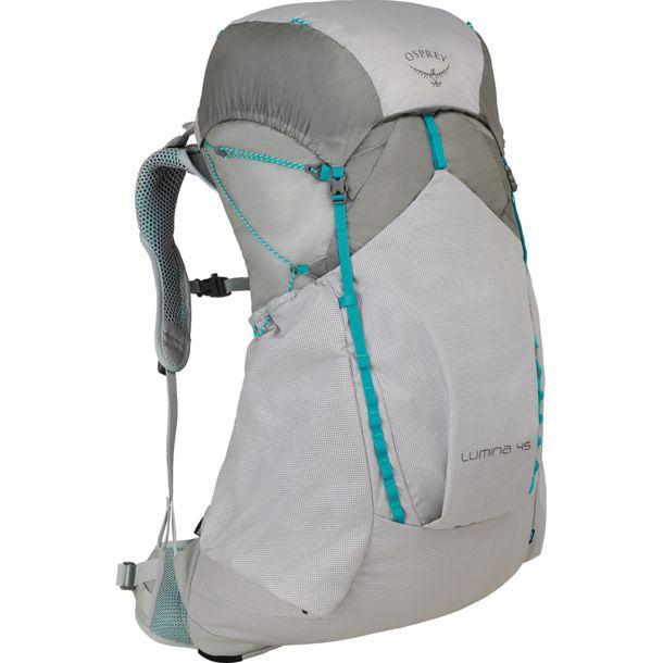 Osprey Lumina 45 ultraleichter Trekkingrucksack für Frauen - Cyan Silver Wanderrucksack / Größe S 112€ / Größe M 123,70€
