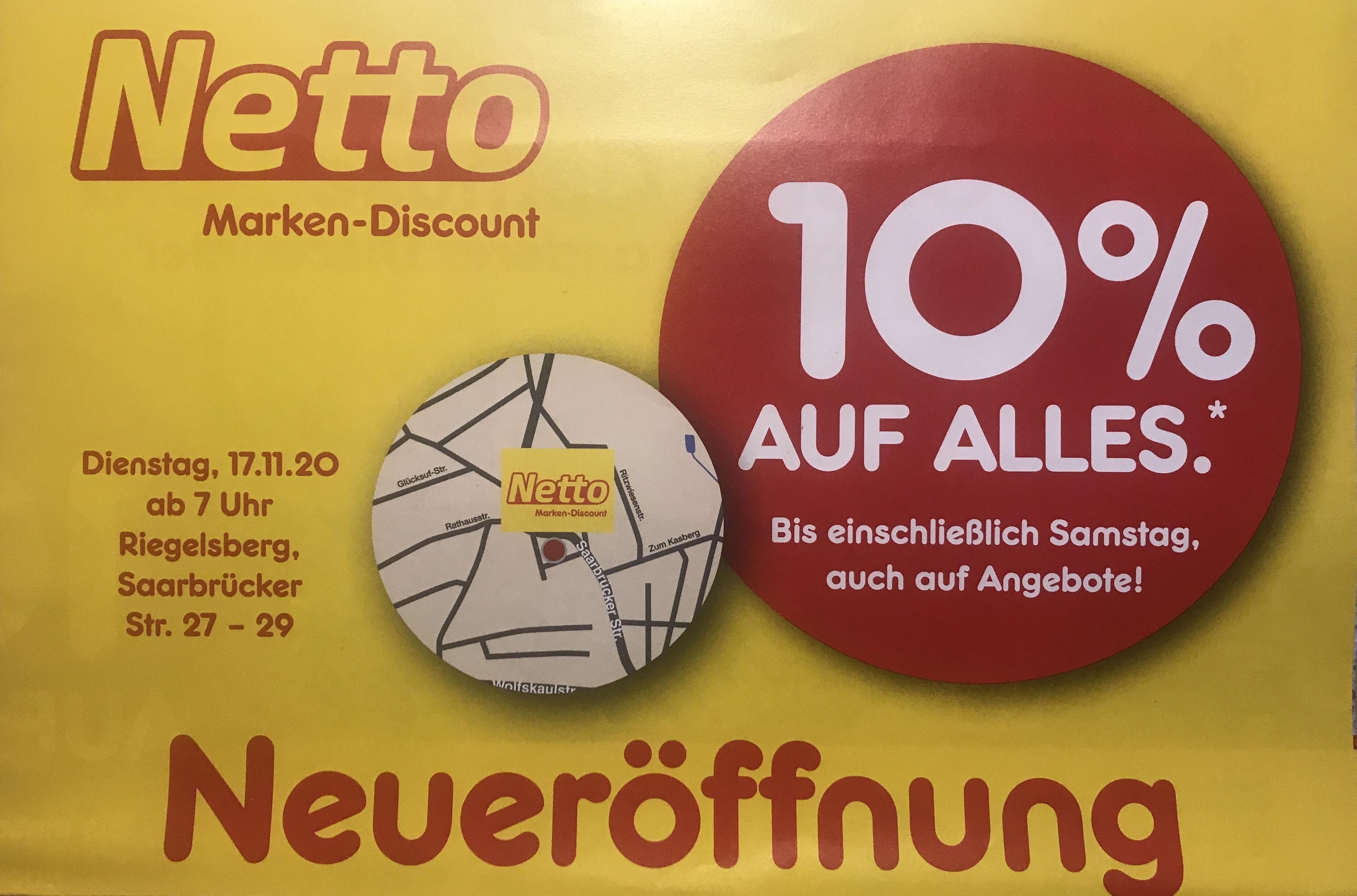 [Lokal] Netto Riegelsberg 10% auf alles