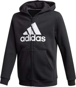 Adidas Must Haves Fleece Full-Zip Kinder Kapuzenjacke für 22,45€ (Gr. 116 - 134) bzw. 24,50€ (Gr. 110 + 140 - 176)