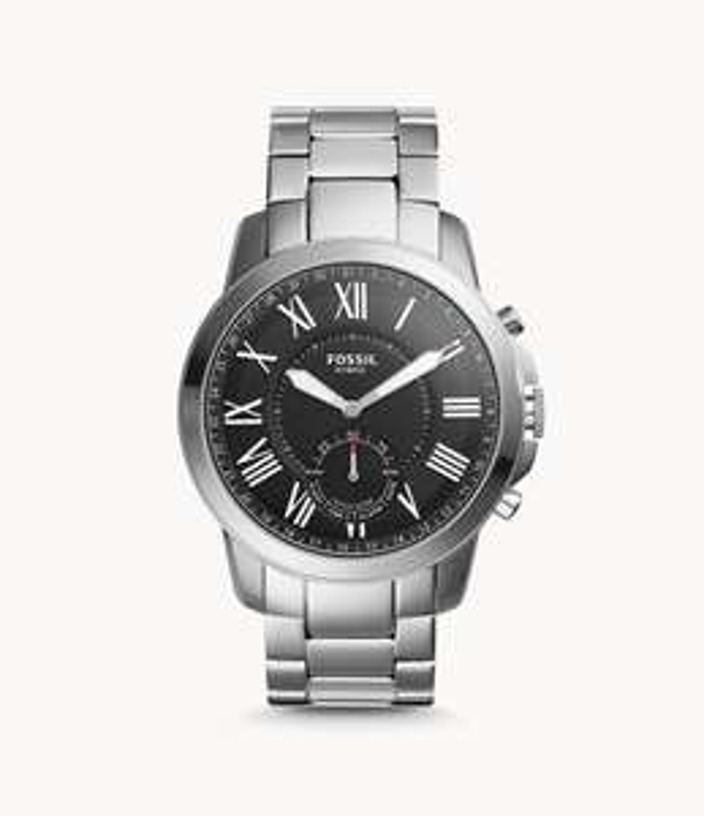 REFURBISHED Herren Hybrid Smartwatch Grant Edelstahl für 75,18€ @ Fossil