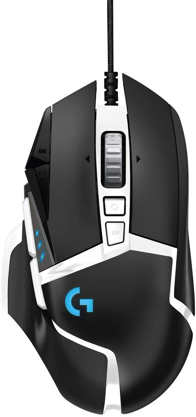 Logitech G502 Hero RGB Gaming-Maus SE (16.000 DPI, Gewichtstuning, 11 programmierbare Tasten, anpassb. Spielprofile, Lightsync, für PC& Mac)