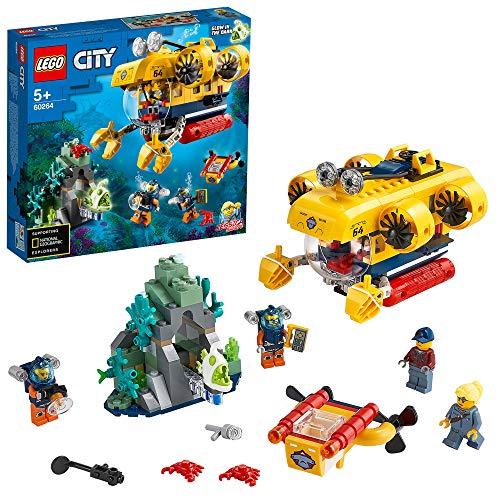 [Amazon Prime oder Müller lokal] LEGO 60264 City Meeresforschungs-U-Boot Tiefsee-Unterwasserset, Tauch-Abenteuerspielzeug für Kinder