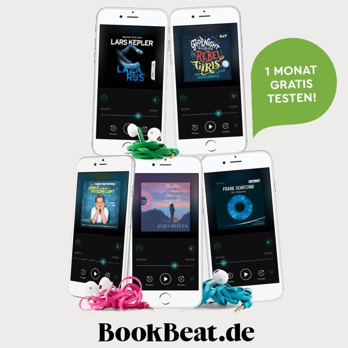 6 Wochen BookBeat Premium gratis testen für Neukunden - unbegrenzt Hörbücher hören