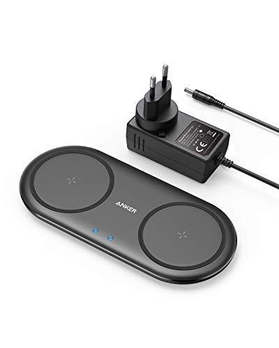 [Amazon Prime] Anker Wireless Charger PowerWave 10 ( Dual Pad, Qi-zertifiziert, 7.5 für iPhone, 10W für Galaxy )