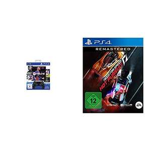 Dualshock 4 DS 4 Wireless-Controller Jet Black + FIFA 21 PS4 + Need for Speed Hot Pursuit oder Star Wars Squadrons
