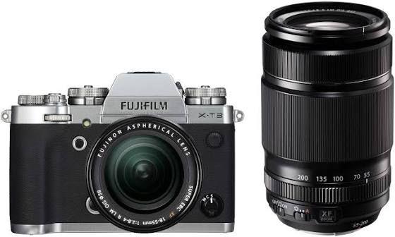 Fujifilm X-T3 Systemkamera inkl. Fujinon XF18-55F2,8-4 & XF55-200F3,5-4,8 Objektiv exkl. 200€ Cashback = 1585€ | VirtualFoto IT