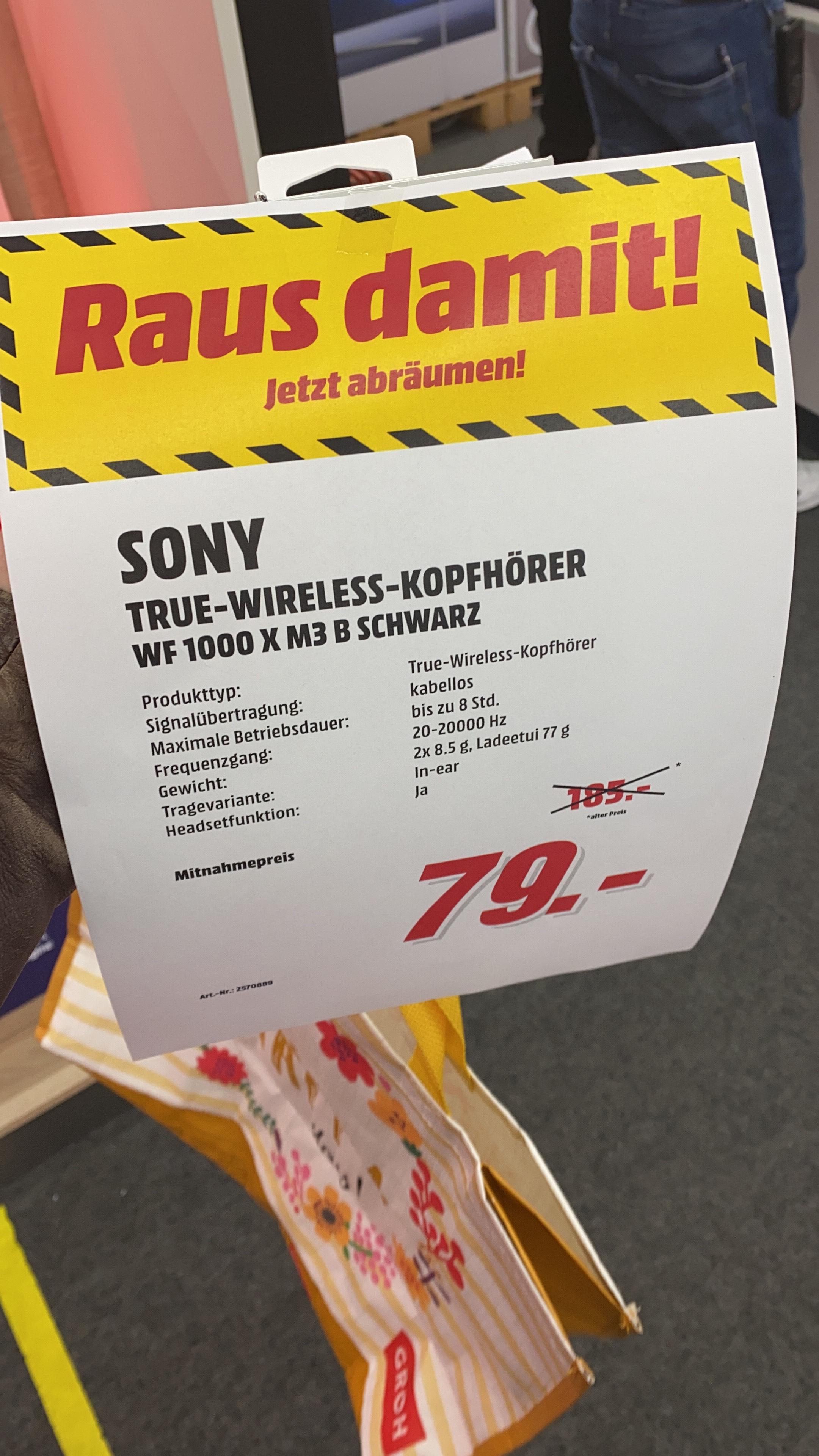 Sony WF 1000 X M3 B (Lokal Dietzenbach) - In-Ear-Kopfhörer