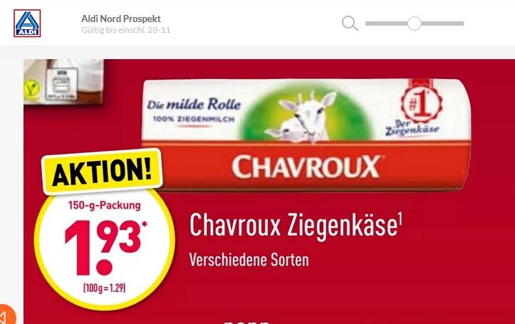 [Penny - tegut - Wasgau - ALDI-Nord] Chavroux Ziegenkäse mit 5x1€ Cashback