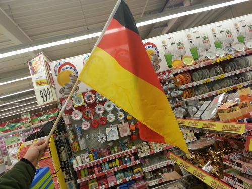 Deutschland-Fahne bei Kaufland Bochum Langendreer