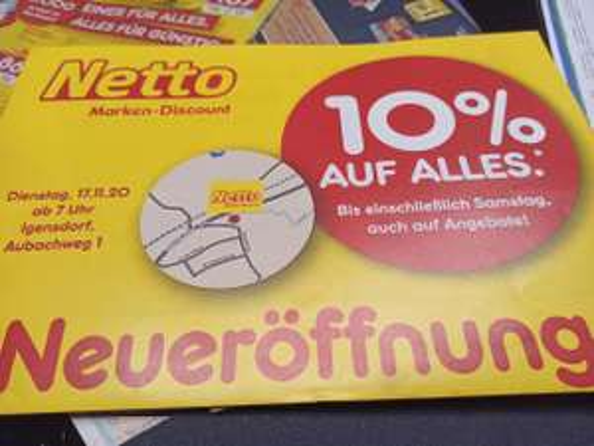 [lokal]Netto Igensdorf 10% auf alles: Bananen 0,61 €/Kilo, Kasten Leikheim 9.- € uvm.