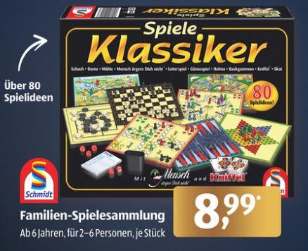 Schmidt Spiele Klassiker Familien-Spielesammlung mit über 80 Spielideen ab 30.11. für nur 8,72€ [ALDI-Süd]