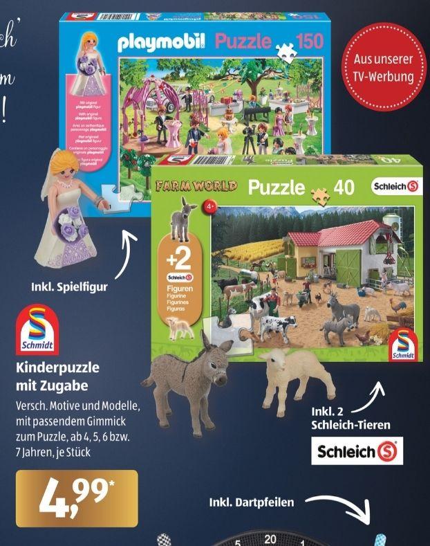 Schmidt Kinderpuzzle mit Zugabe z.B. Schmidt-Spiele Playmobil Hochzeit 150 Teile, Aldi Süd ab 30.11.20