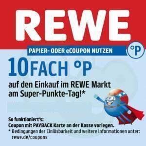 [Rewe] 10fach Payback Punkte auf den gesamten Einkauf am 27.11. - auch online für Lieferservice