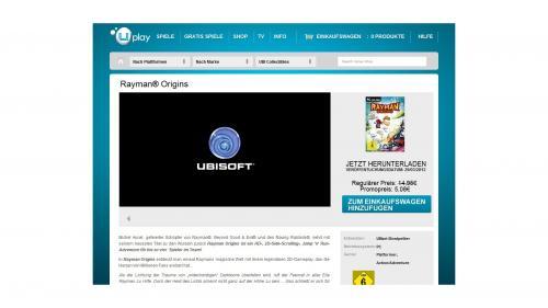 Rayman Origin bei UPLay für nur 5,08 EUR