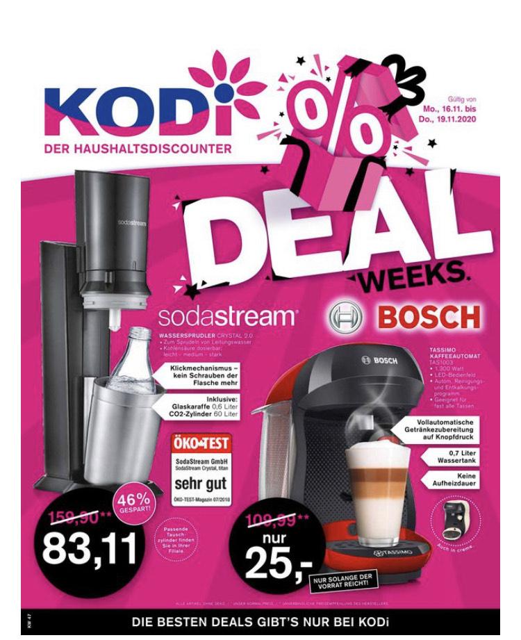 [Bis Donnerstag bei KODi] SODASTREAM CRYSTAL 2.0 inkl. 60L CO2 Zylinder und 1x Glas Karaffe