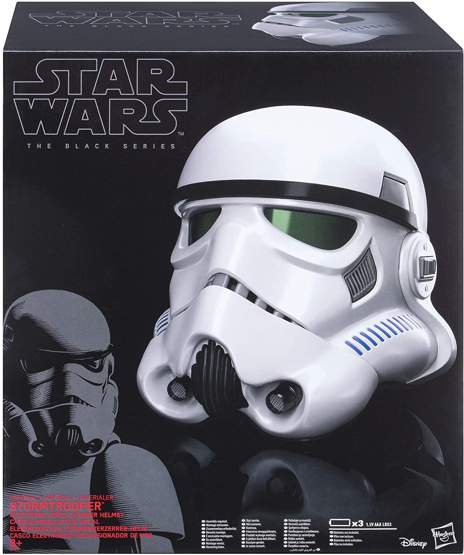 10% Rabatt auf Hasbro Star Wars zum Star Wars Day: zB Star Wars Rogue One The Black Series Imperialer Stormtrooper Helm mit Stimmenverzerrer