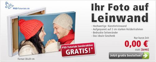 Foto auf Leinwand(20x30) für 9,99€ statt 18,99€