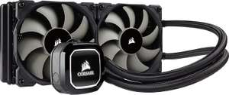 Corsair Hydro H100x Wasserkühlung (inkl. 2 x 120mm Lüfter, LED, All-In-One High Performance CPU-Kühlung) schwarz
