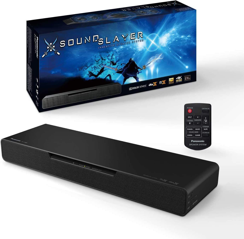 Panasonic Soundslayer SC-HTB01 - 2.1 Gaming Soundbar mit integriertem Subwoofer (Dolby Atmos, DTS:X, Bluetooth, High-Resolution Audio, HDMI)