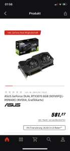 ASUS GeForce DUAL RTX3070 8GB