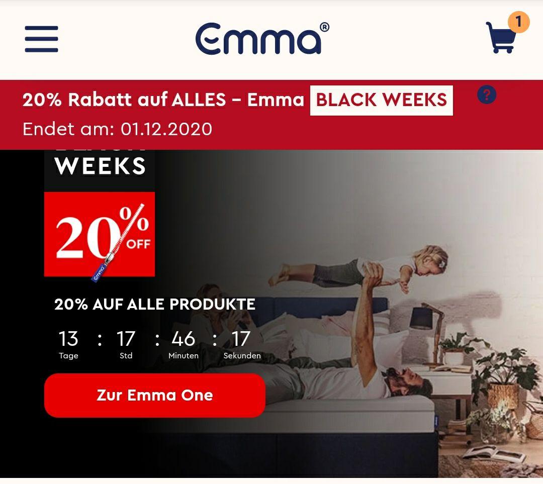 Emma One Matratze - 90 x 200 BLACK WEEK ANGEBOT