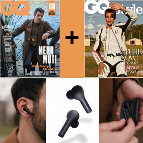 Boompods Bassline TWS, Bluetooth, InEar Kopfhörer, Noise Cancelling (i.W.v. 44€) + GQ Style (2 Ausgaben) & GQ Abo (4 Ausgaben) für 30€