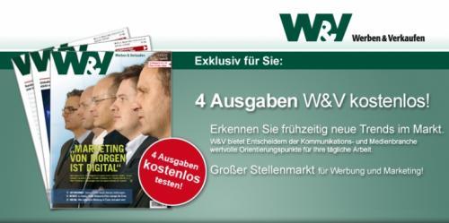 W&V 4 Ausgaben kostenlos
