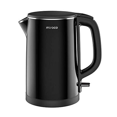 Miroco Wasserkocher mit 1,5L Volumen, innen aus Edelstahl | 2150W Trockengehschutz, BPA-Frei
