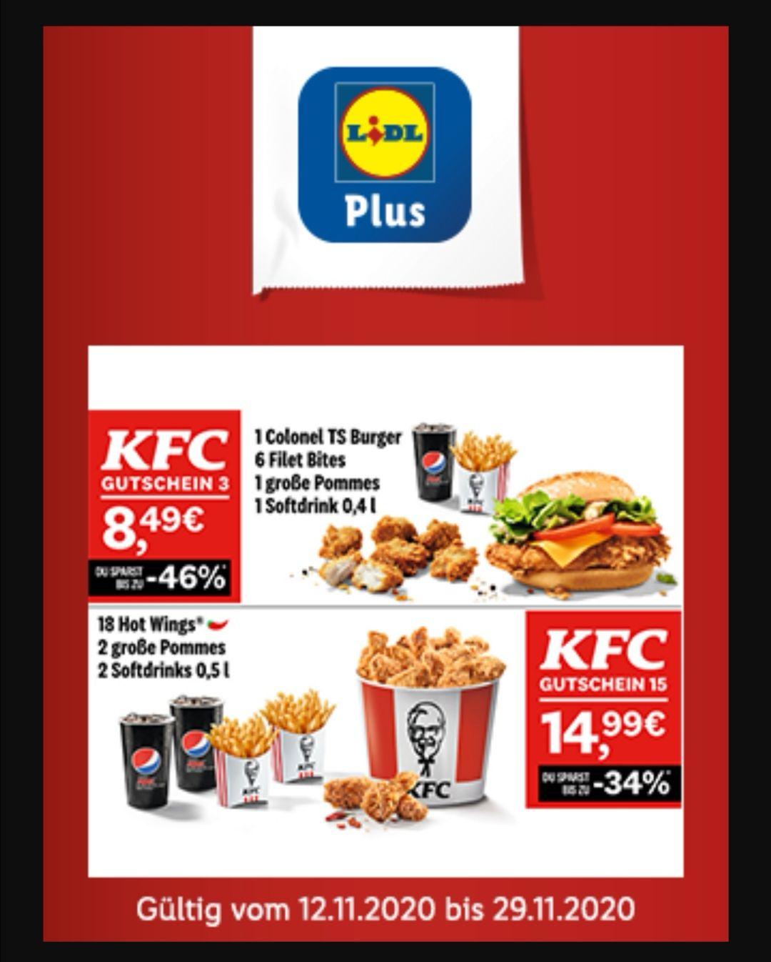 KFC Gutscheine *extra zur KFC App*